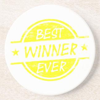 El mejor amarillo del ganador nunca posavaso para bebida