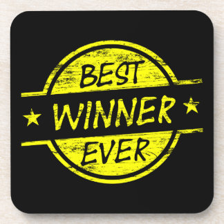 El mejor amarillo del ganador nunca posavasos de bebida
