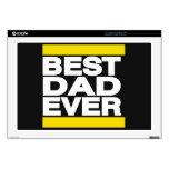 El mejor amarillo del papá nunca 43,2cm portátil calcomanía