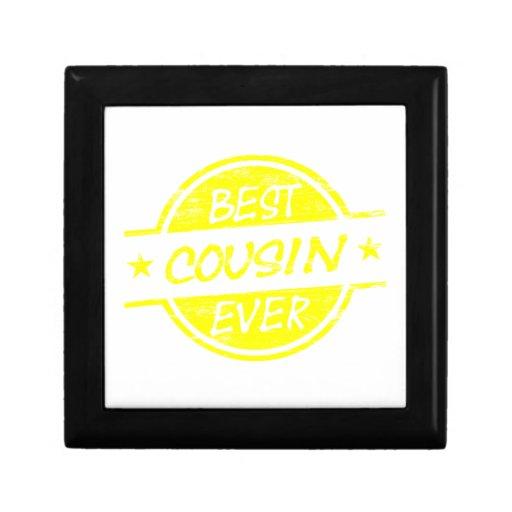 El mejor amarillo del primo nunca caja de recuerdo
