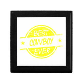 El mejor amarillo del vaquero nunca caja de recuerdo