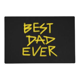 El mejor amarillo siempre de neón del papá (color tapete individual