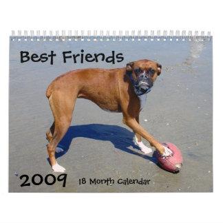 El mejor amigo 2009 del hombre calendario de 18