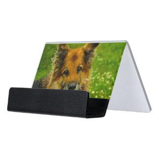 El mejor amigo #2 del hombre caja de tarjetas de visita para escritorio