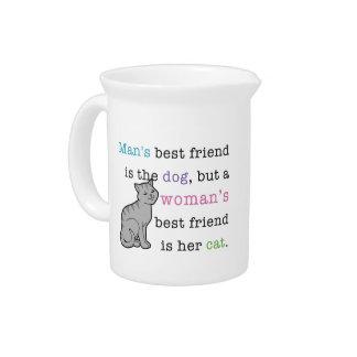El mejor amigo de la mujer: Jarra de cerámica del