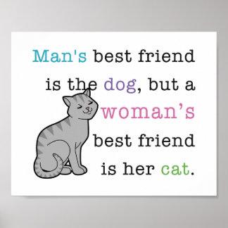 El mejor amigo de la mujer - su poster del gato
