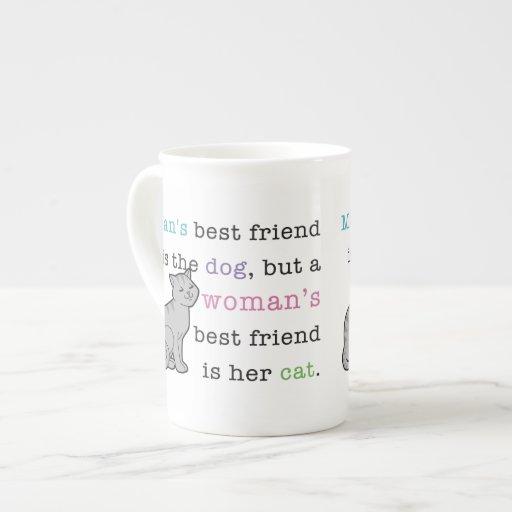 El mejor amigo de la mujer - su taza de la porcela taza de porcelana