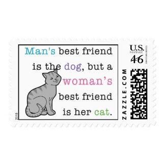 El mejor amigo de la mujer - sus sellos del gato