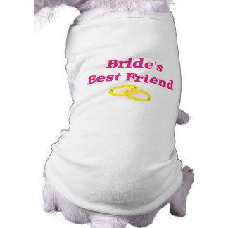 El mejor amigo de la novia playera sin mangas para perro