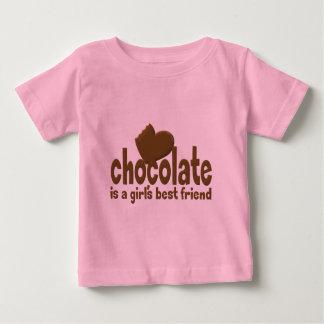 El mejor amigo del chica del chocolate playera de bebé