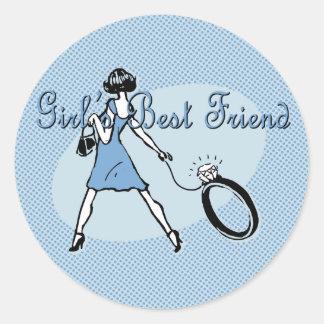 El mejor amigo del chica pegatina redonda