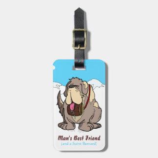 El mejor amigo del hombre etiquetas maletas