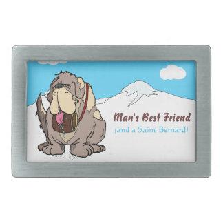 El mejor amigo del hombre hebilla de cinturón rectangular