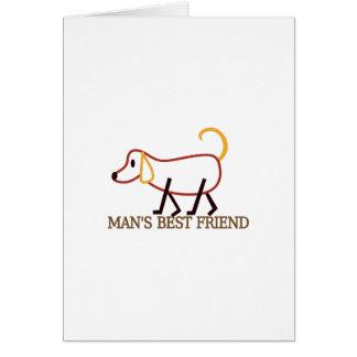 El mejor amigo del hombre tarjeta de felicitación