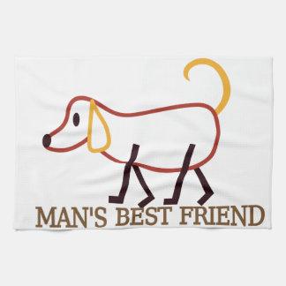 El mejor amigo del hombre toalla de mano