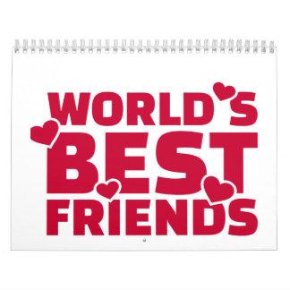 El mejor amigo del mundo calendarios de pared