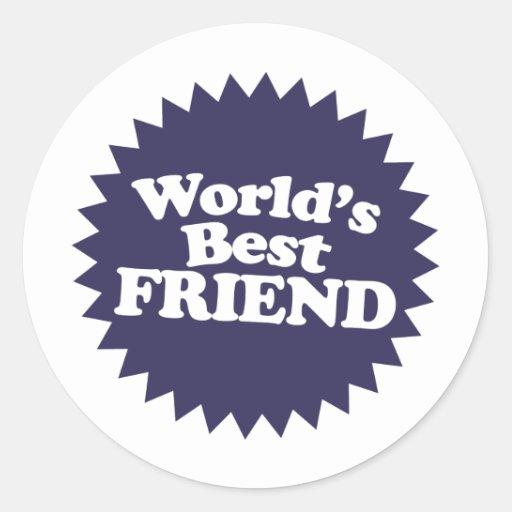 El mejor amigo del mundo etiqueta redonda