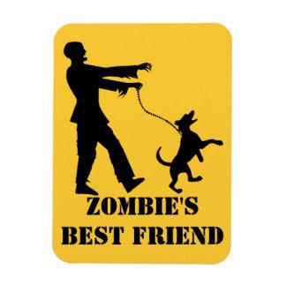 El mejor amigo del zombi imán foto rectangular