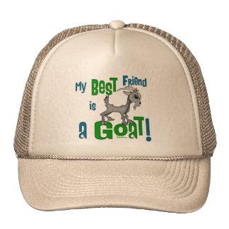 El mejor amigo es una cabra gorros bordados