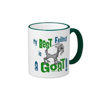 El mejor amigo es una cabra taza a dos colores