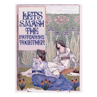 El mejor amigo feminista tarjetas postales