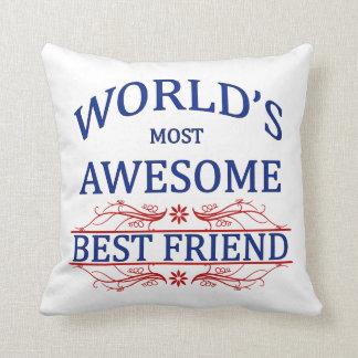 El mejor amigo más impresionante del mundo almohadas