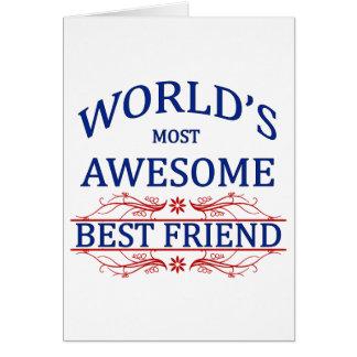 El mejor amigo más impresionante del mundo tarjeta de felicitación