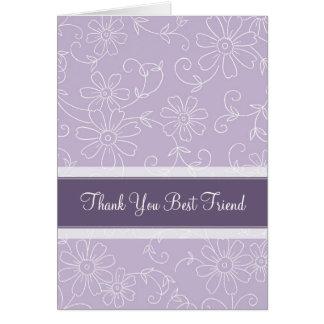 El mejor amigo púrpura le agradece criada de la ta