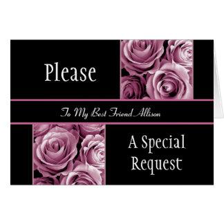 El MEJOR AMIGO ROSADO de los rosas sea mi criada Tarjeta De Felicitación
