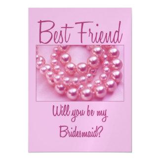El mejor amigo sea por favor dama de honor invitaciones magnéticas