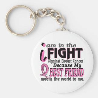 El mejor amigo significa el mundo a mí cáncer de llavero redondo tipo pin