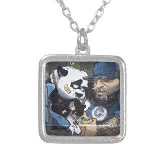 El mejor amor de la panda de Buddie Collar Plateado