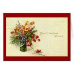 El mejor Año Nuevo desea el vintage Tarjetas