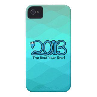 ¡El mejor año nunca! Caso 2013 del iPhone 4/4S de  iPhone 4 Case-Mate Funda