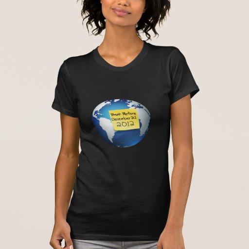 El mejor antes de diciembre de 2012 camiseta