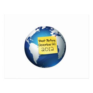 El mejor antes de diciembre de 2012 postal