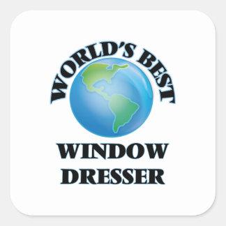 El mejor aparador de la ventana del mundo pegatina cuadrada