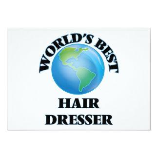 El mejor aparador del pelo del mundo invitación 12,7 x 17,8 cm