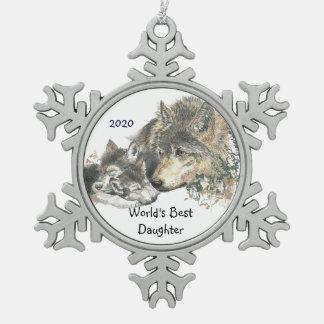 El mejor arte de Cubs de lobo de la hija del mundo Adorno