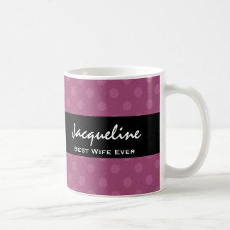 El mejor artículo rosado siempre oscuro del regalo taza