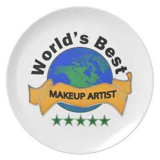 El mejor artista del maquillaje del mundo plato para fiesta