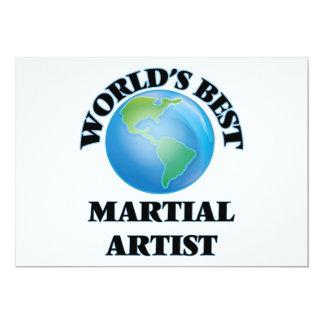 El mejor artista marcial del mundo invitación 12,7 x 17,8 cm