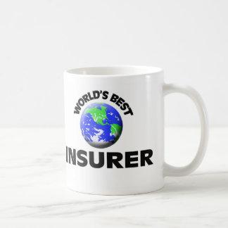 El mejor asegurador del mundo taza básica blanca
