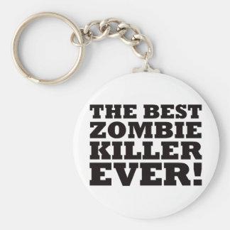 El mejor asesino del zombi nunca llavero redondo tipo pin