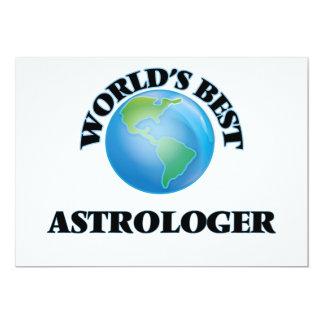 El mejor astrólogo del mundo invitación 12,7 x 17,8 cm