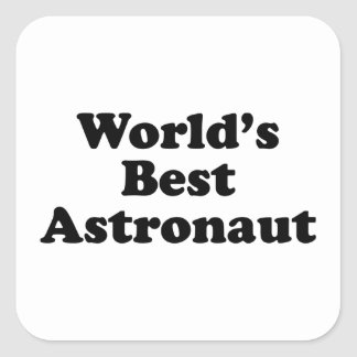 El mejor astronauta del mundo pegatina cuadrada