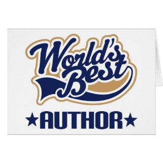 El mejor autor de los mundos felicitación