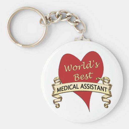 El mejor auxiliar médico del mundo llaveros personalizados
