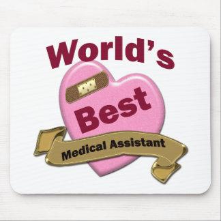 El mejor auxiliar médico del mundo alfombrillas de ratón