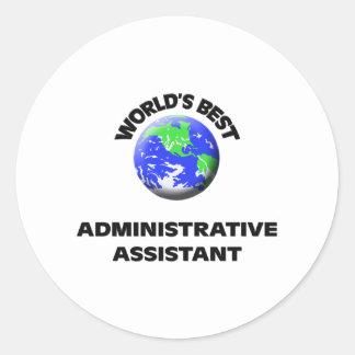 El mejor ayudante administrativo del mundo etiqueta redonda